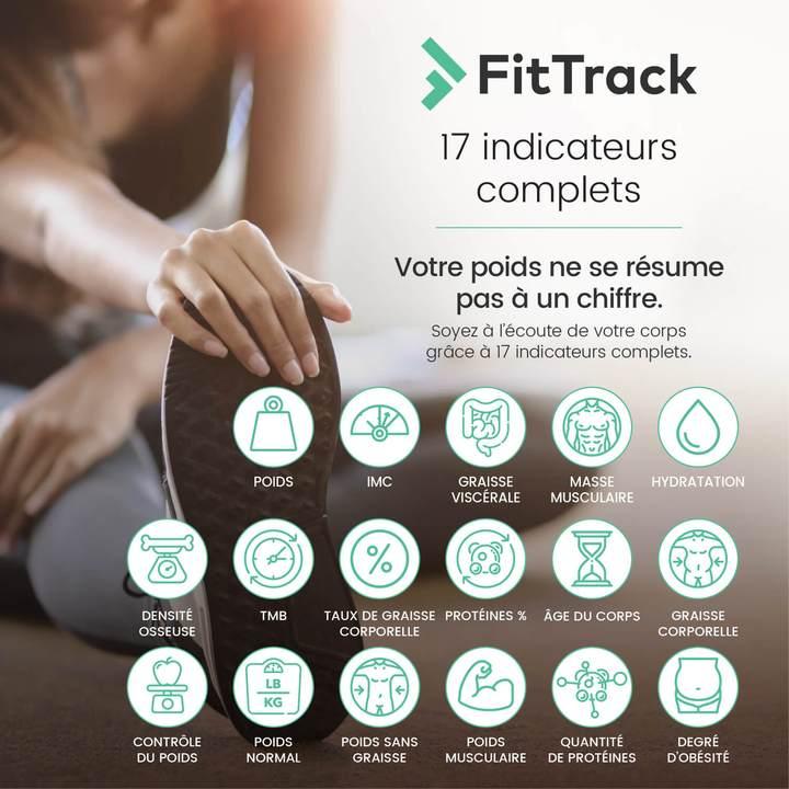 FitTrack Dara 17 indicateurs